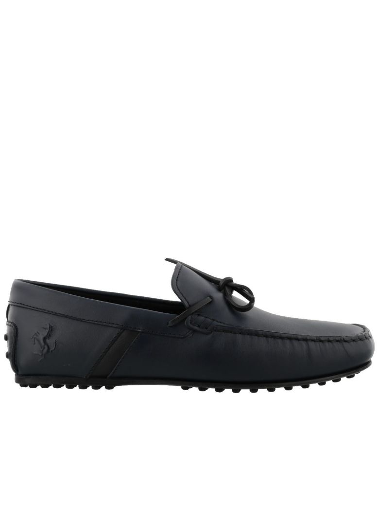 leather blue ferrari trimmed lyst product shoes tod gallery navy nubuck tods s normal gommino driving