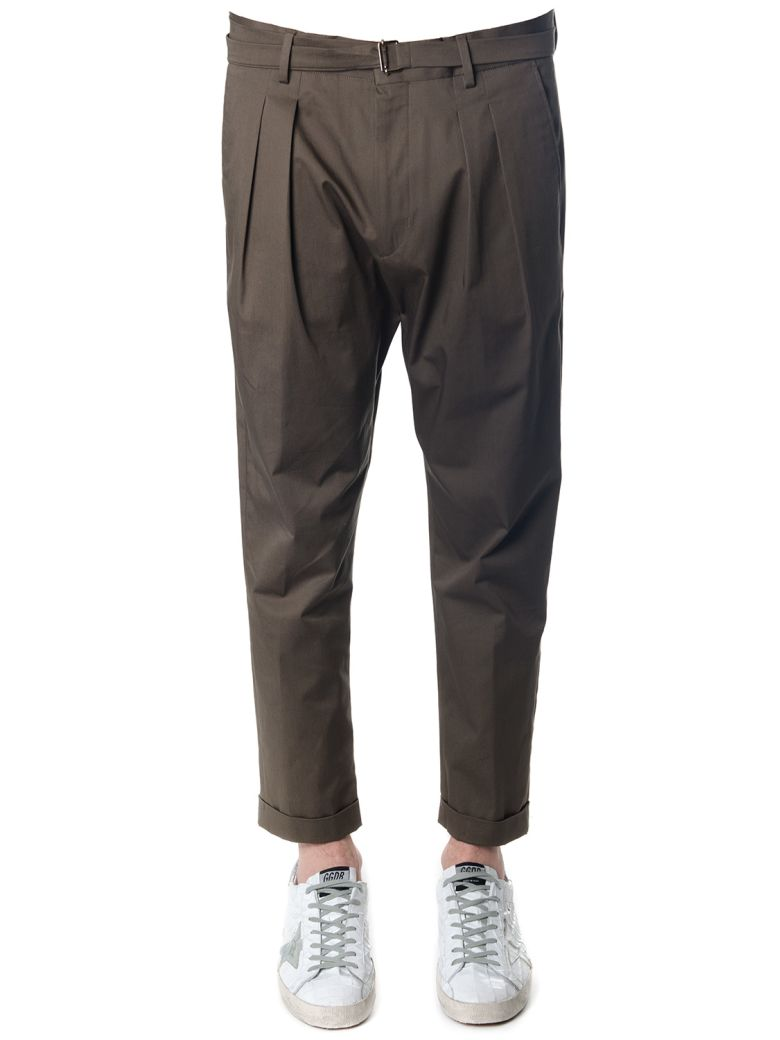 LOW BRAND MUD COTTON TROUSERS
