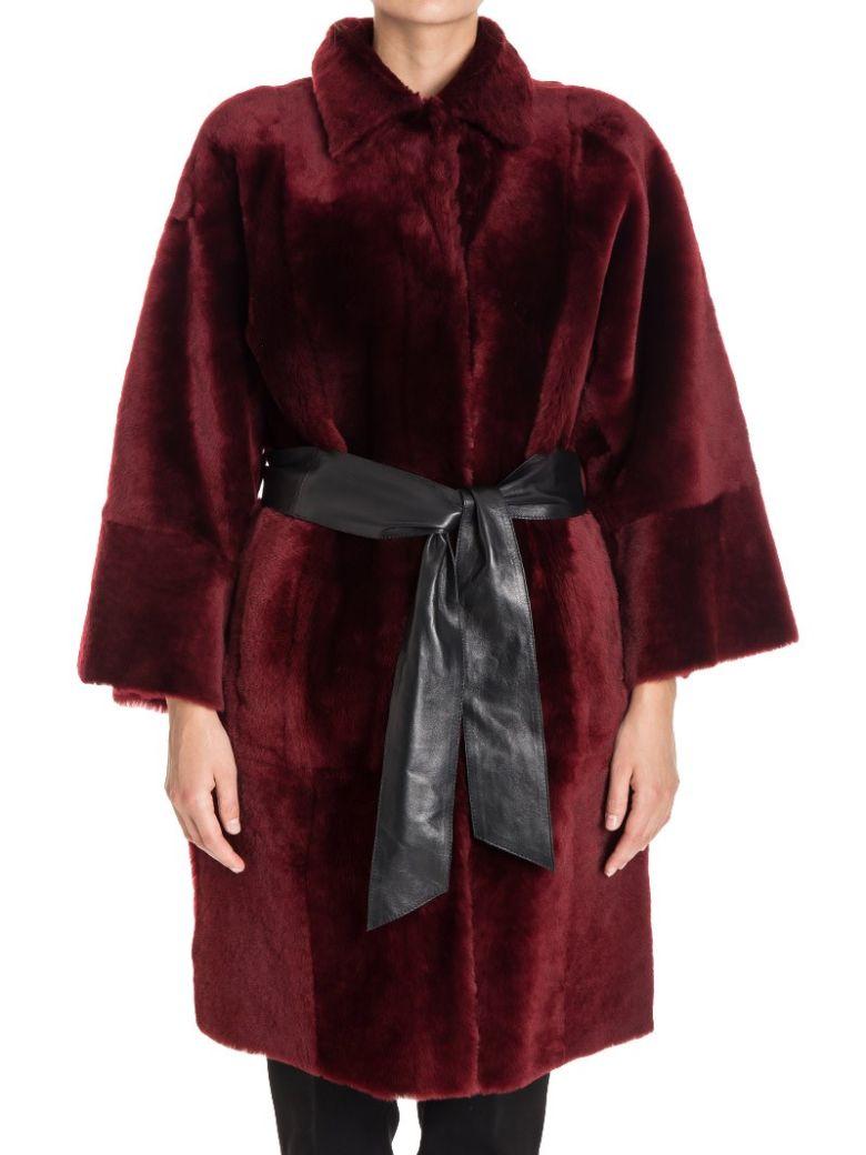 Bordeaux Leather Coat