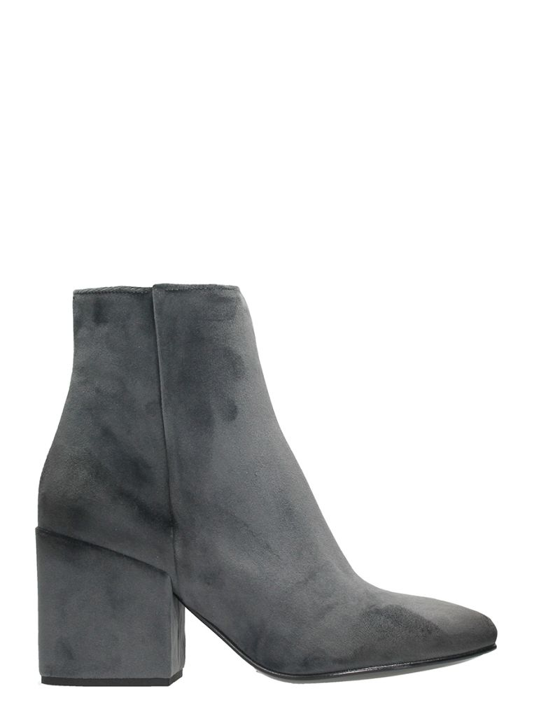 Strategia GREY VELVET BOOTS