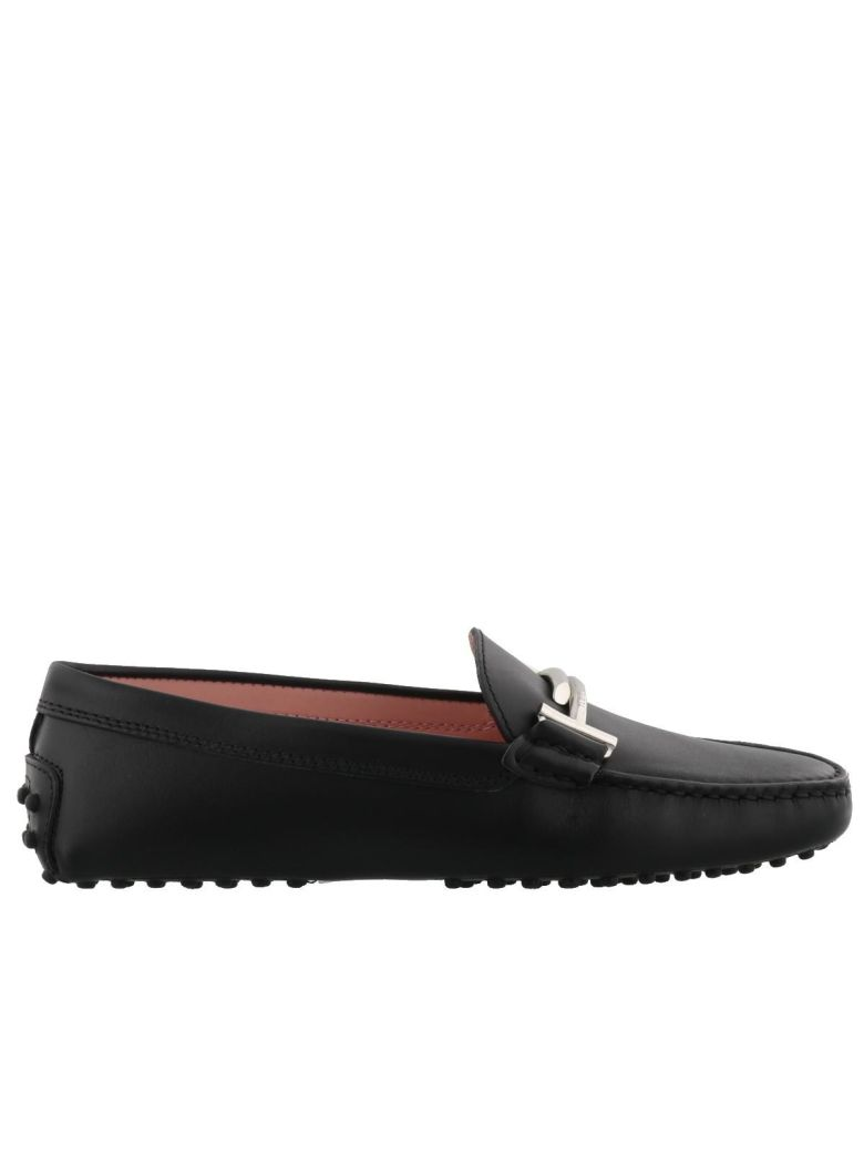 Gommini Double T Driving Moccasin, Black