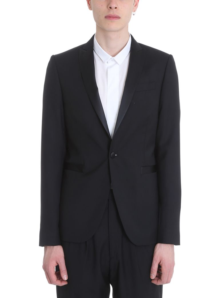 SARTORIAL MONK BLACK COTTON BLAZER
