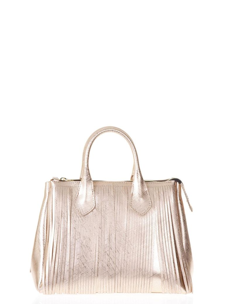 ROSEGOLD FRINGED GUM HAND BAG