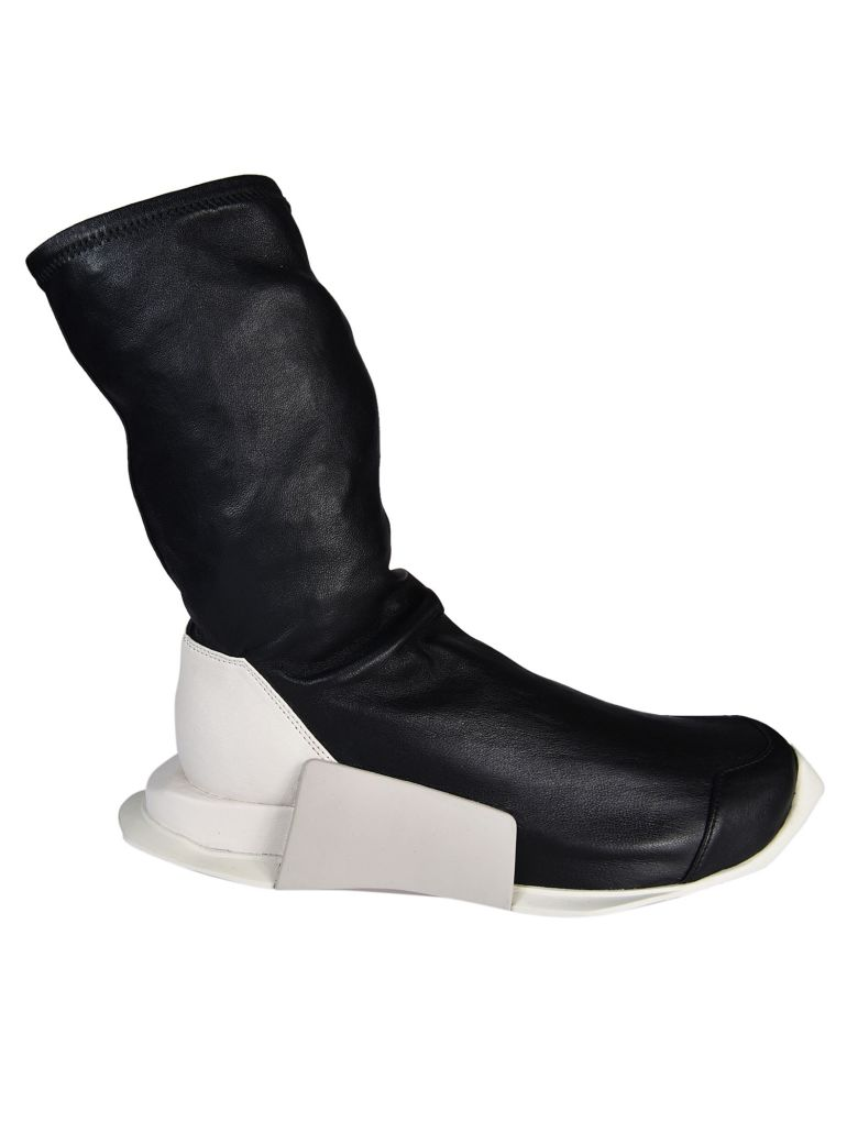 Rick Owens X Adidas Sock Hi-Top Sneakers in Black