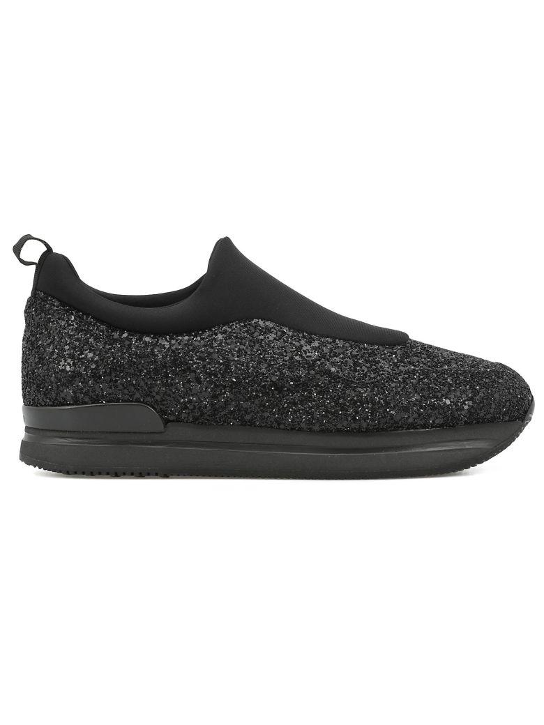 HOGAN H222 Glitter Sneakers in Black