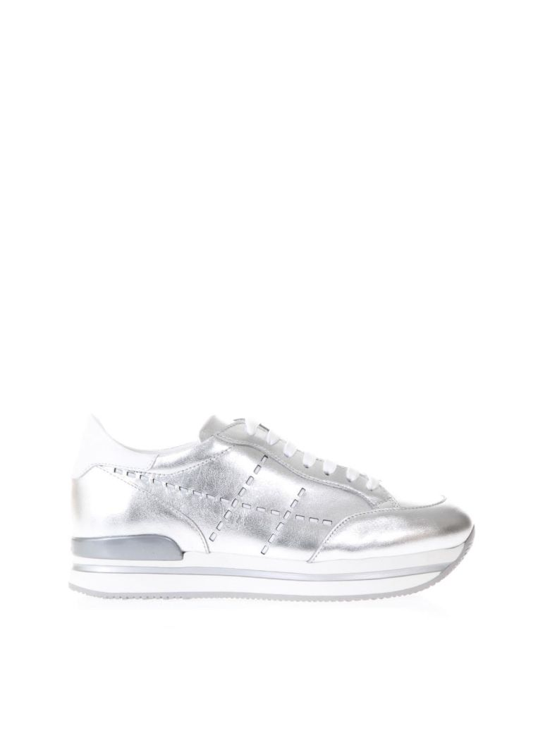 Hogan  SILVER H222 LEATHER SNEAKERS