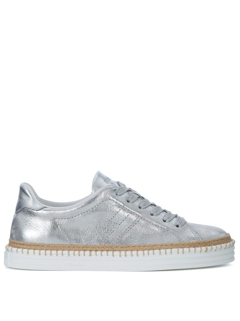 R260 SILVER METAL LEATHER SNEAKER