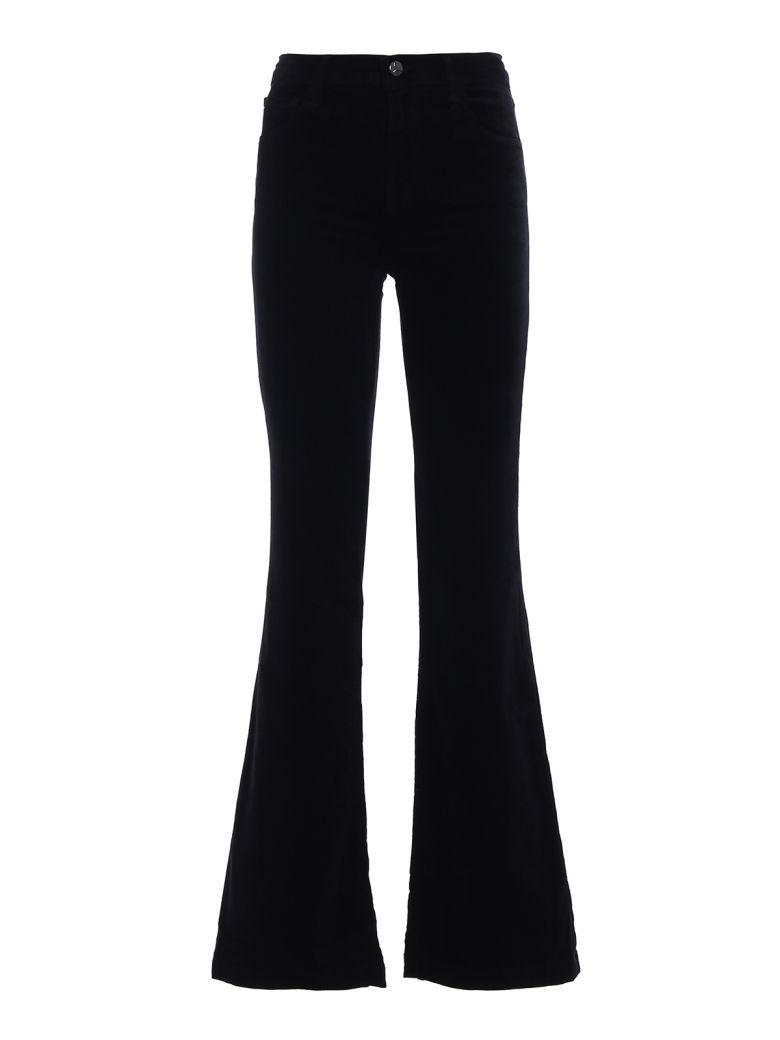 J Brand Maria Flare Velvet Jeans - Black