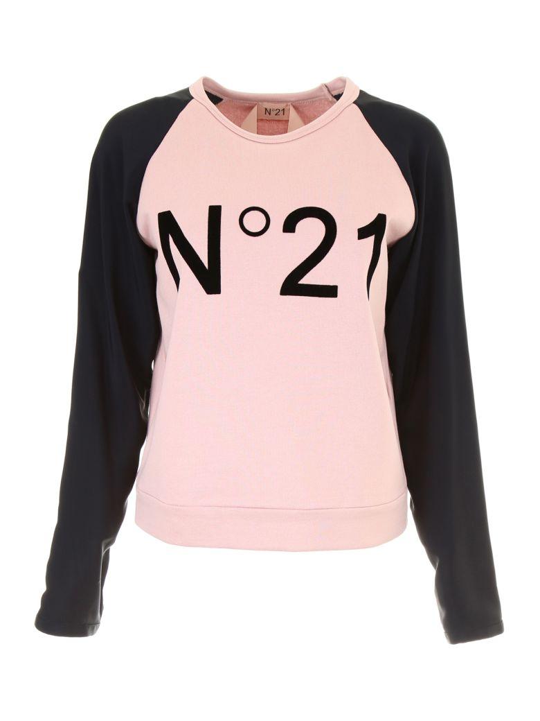 Nº21 Branded Raglan Sweatshirt - Neutrals, Nude Blacknero