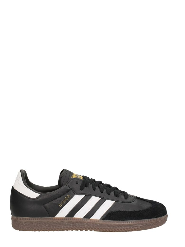 Men'S Samba Og Leather Lace-Up Sneakers in Black