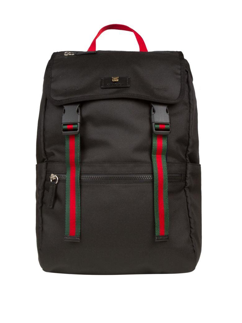e6f1b628962e Gucci Technical Canvas Backpack In Nero