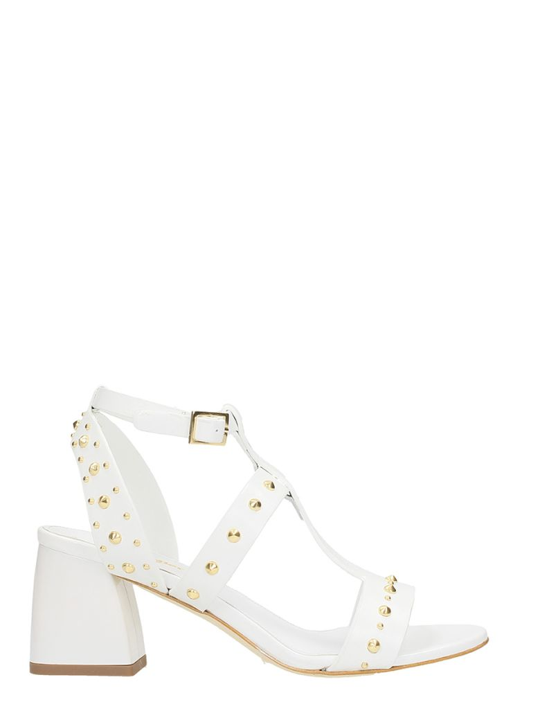 THE SELLER WHITE LEATHER SANDALS