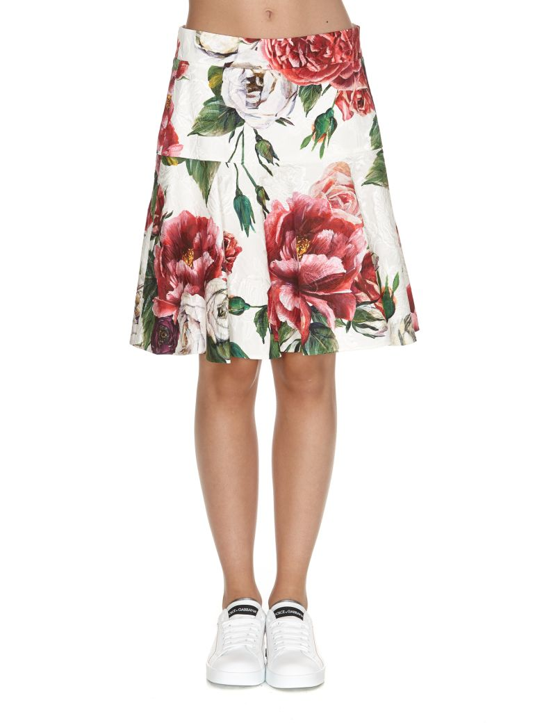 Floral Flared Mini Skirt, Multicolor