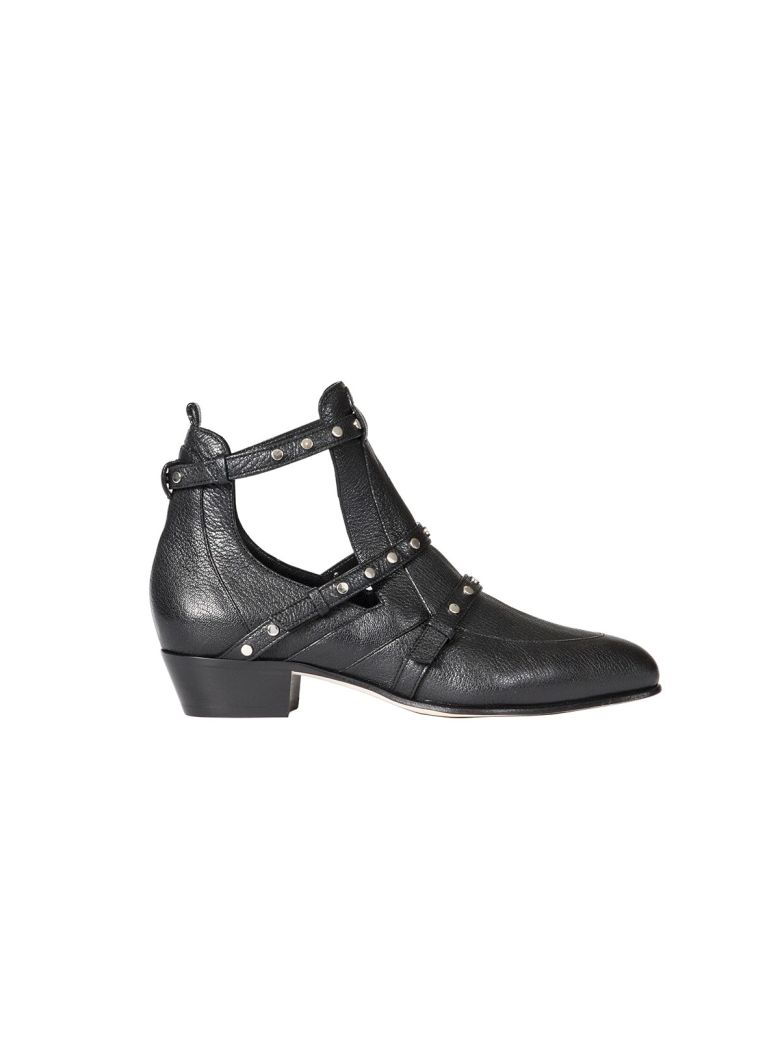 0a5e183de3ae Jimmy Choo Harley 30 Textured Leather Ankle Boots In Black ...