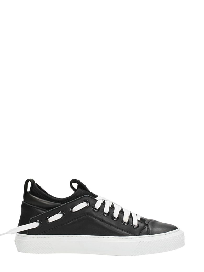 BRUNO BORDESE TRINGULAR SNEAKERS IN BLACK LEATHER