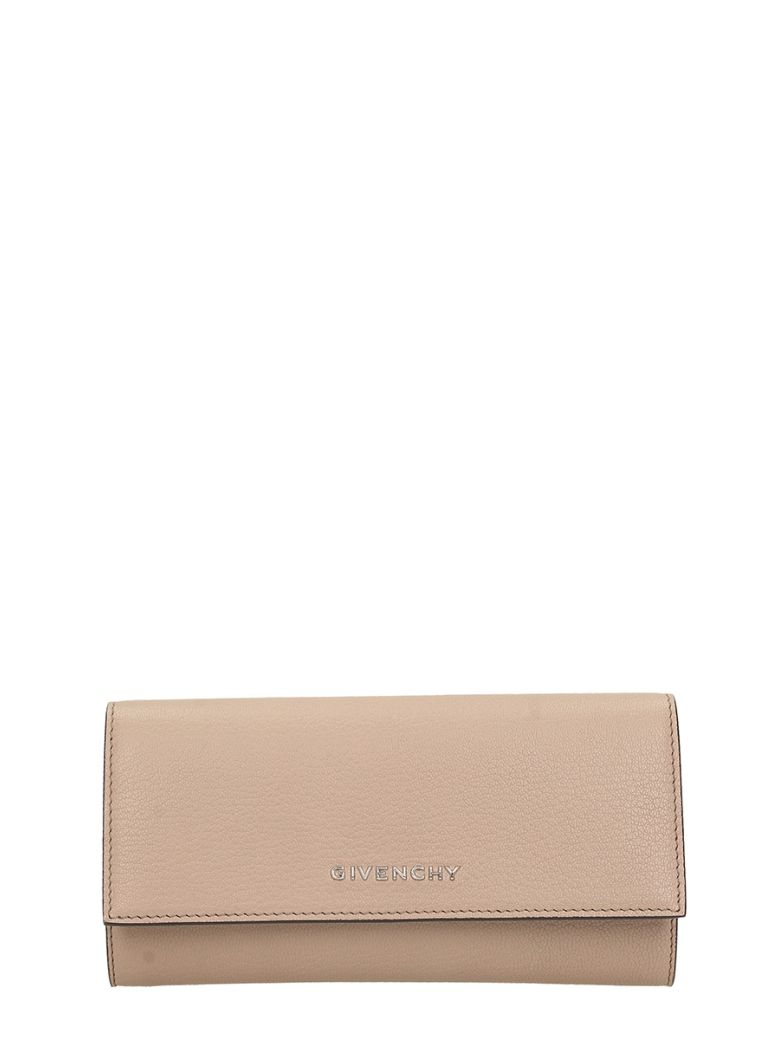WALLET IN TAUPE LEATHER