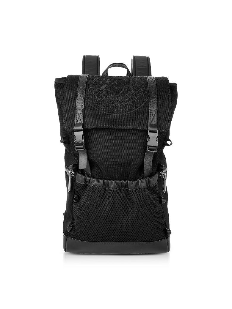 balmain black nylon men's climb backpack