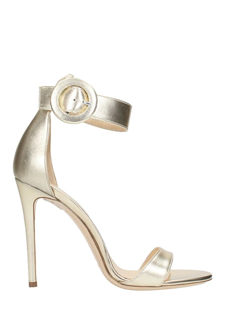 PLATINUM CALF LEATHER SANDALS