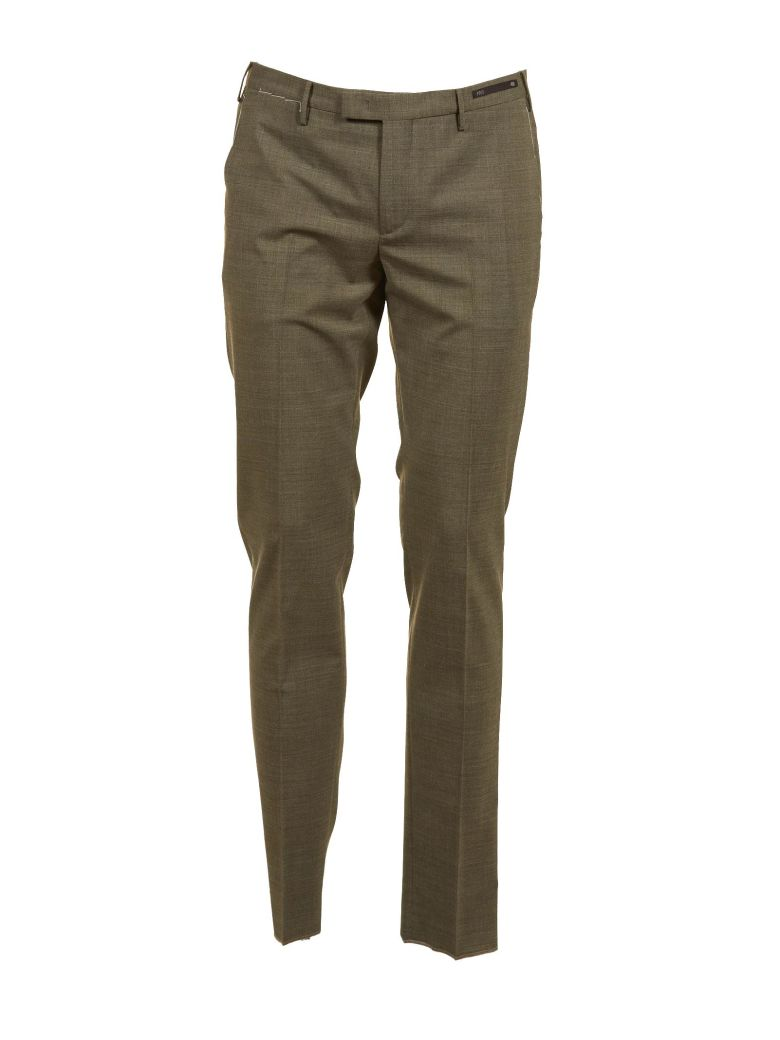 PT01 Pt01 Tailored Fitted Trousers - Brown