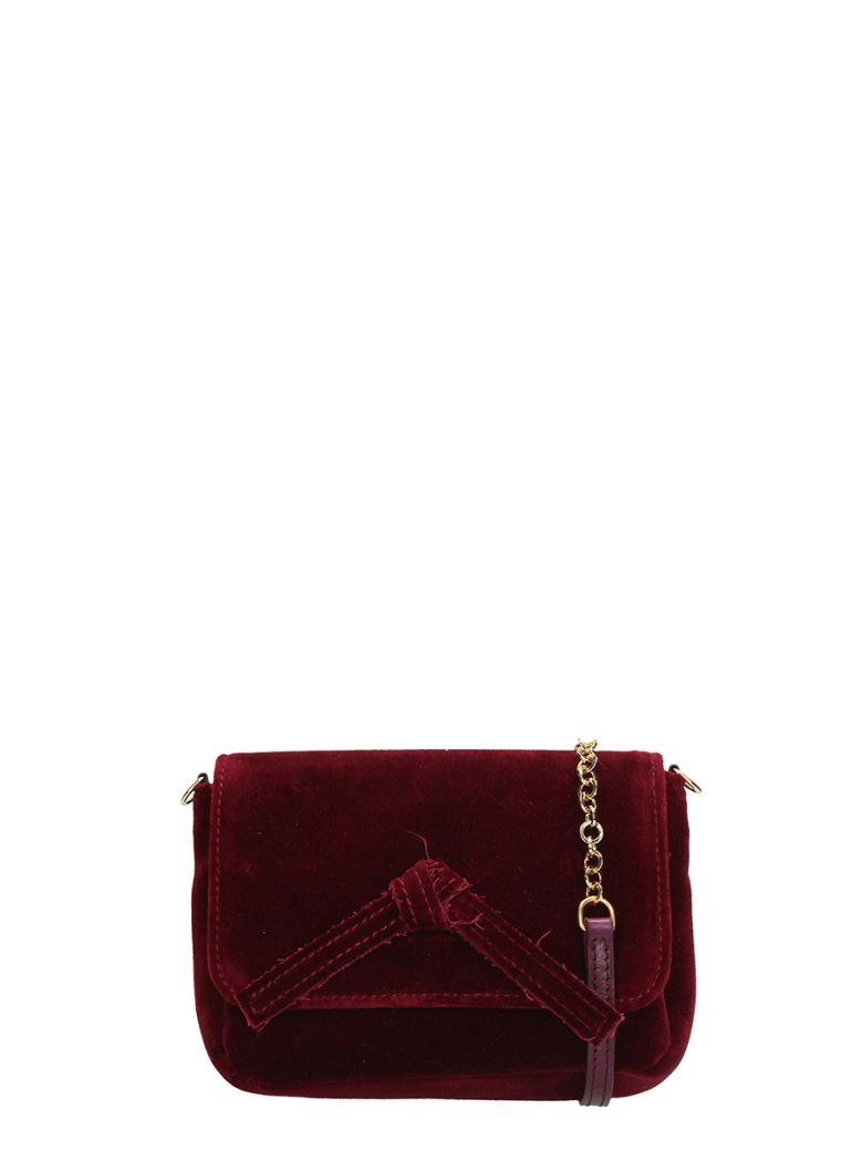 BURGUNDY VELVET MINI BAG