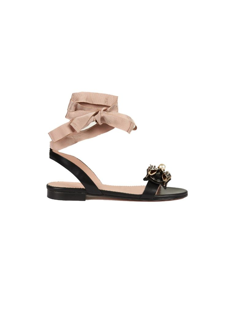 Where Can You Find RED Valentino Embellished Flat Sandals With Paypal Free Shipping xsBNx4pczY