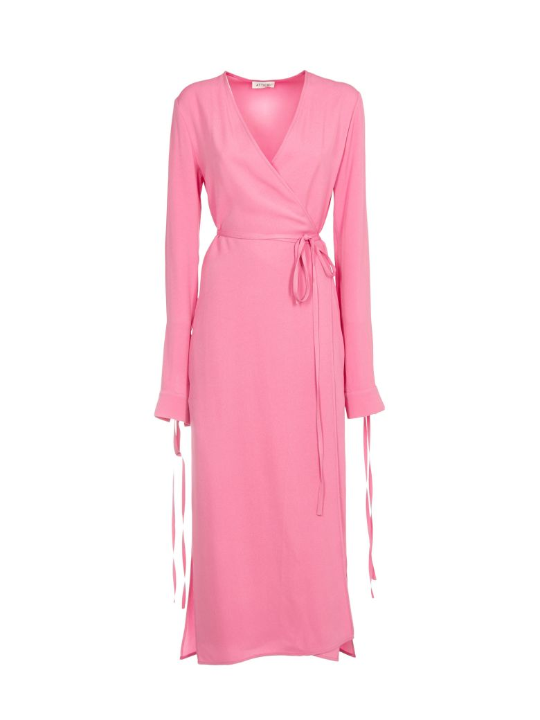 wrap maxi dress - Pink & Purple Attico Shipping Discount Authentic Clearance Many Kinds Of New Styles Clearance Perfect HX3td