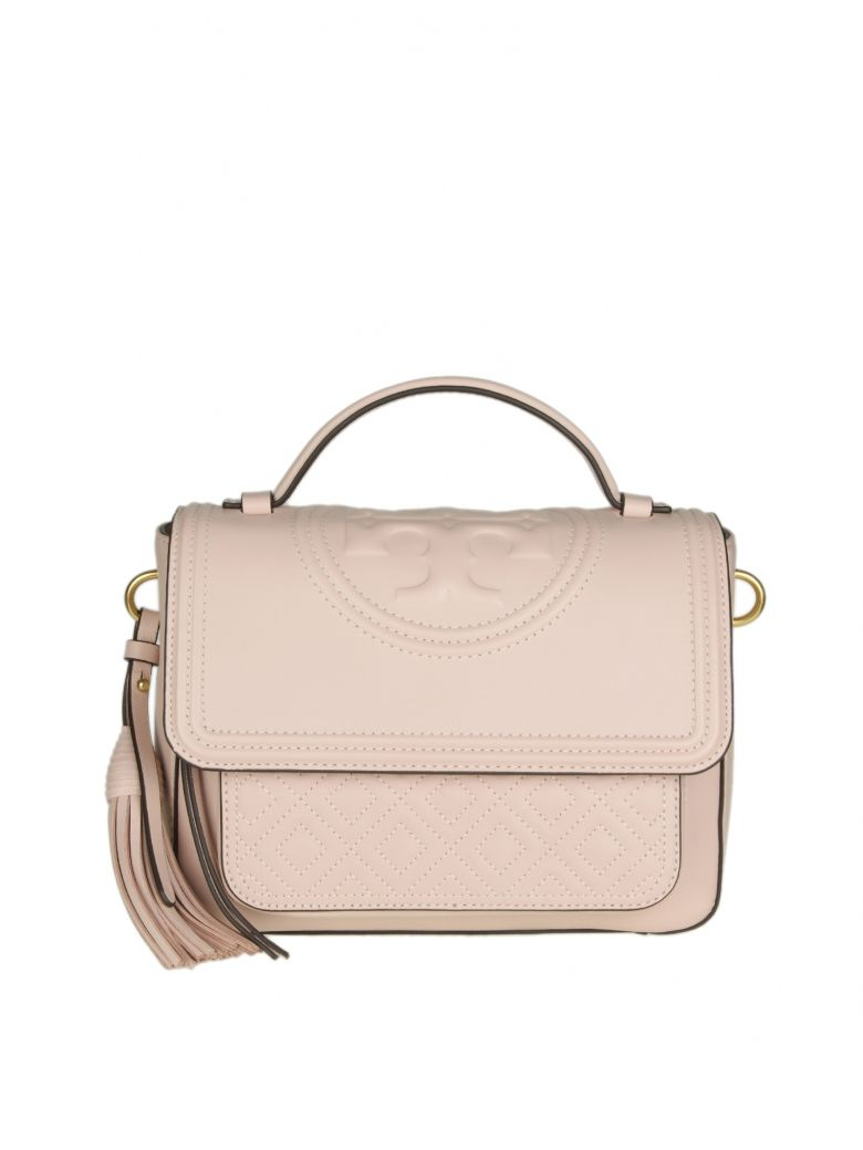 FLEMING SATCHEL IN PINK COLORED LEATHER