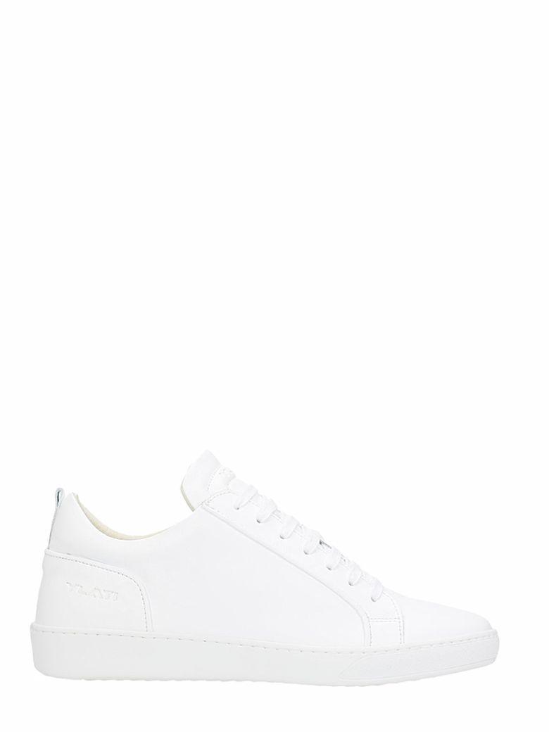 YLATI FOOTWEAR AMALFI WHITE LEATHER SNEAKERS