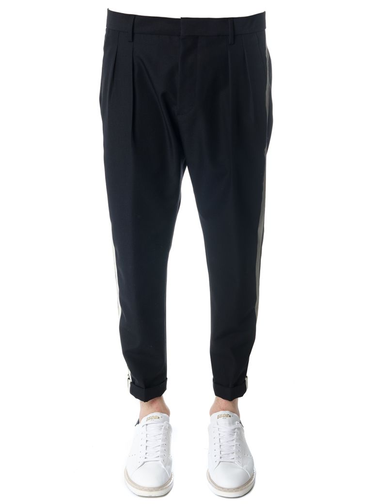 LOW BRAND BLACK WOOL TROUSERS