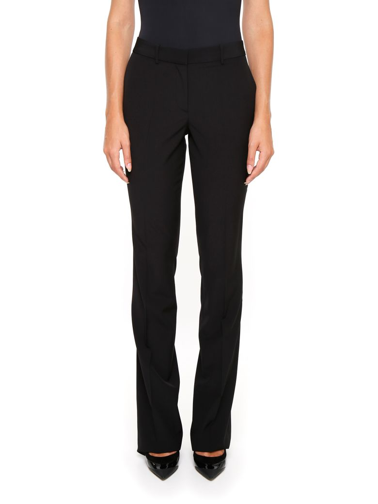 Pure Wool Trousers in Nero