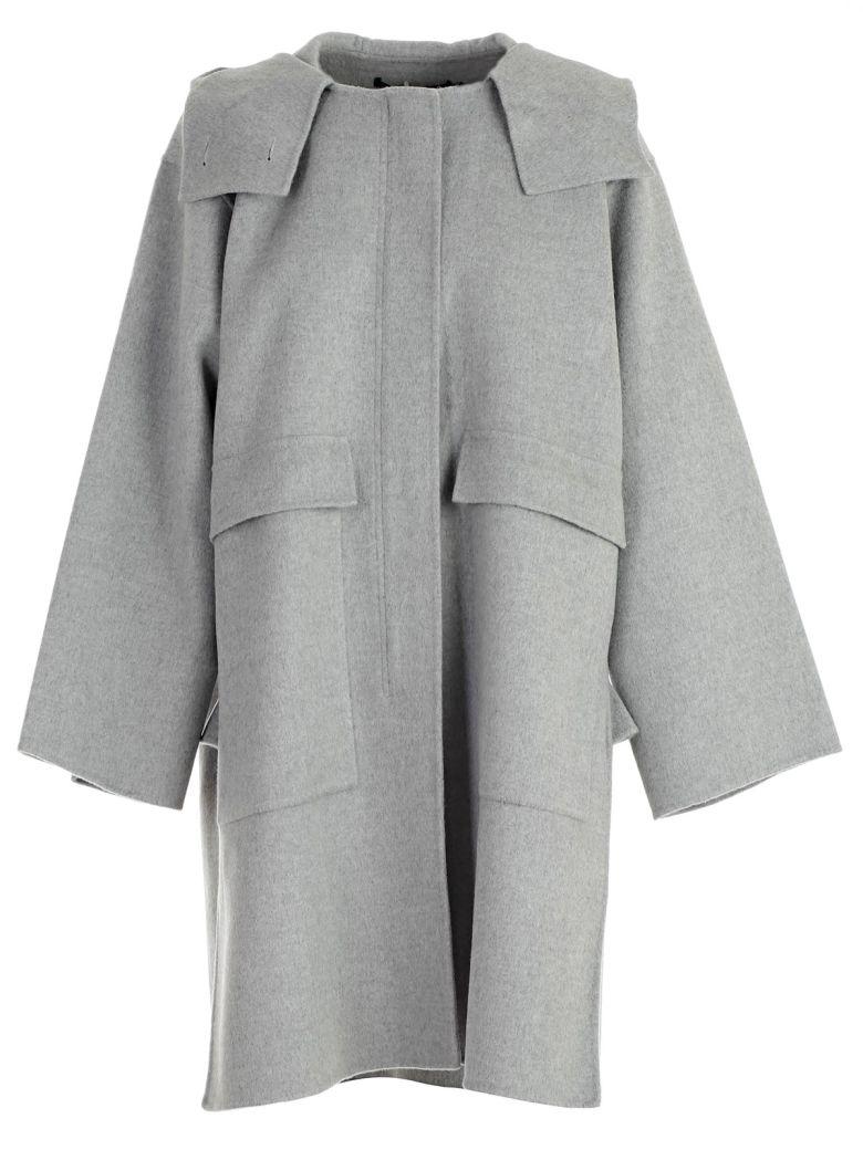 SOFIE D'HOORE Sofie D'Hoore Oversized Long Coat in Light Grey