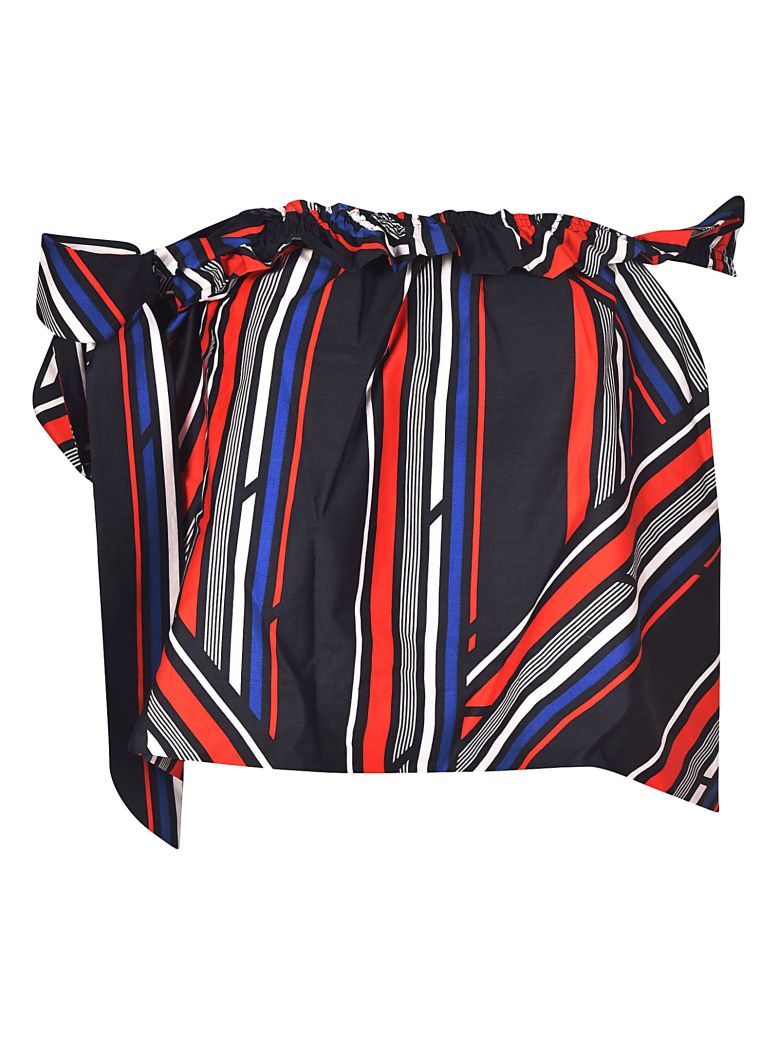 TOMMYXGIGI Striped Asymmetric Top in Multicolor
