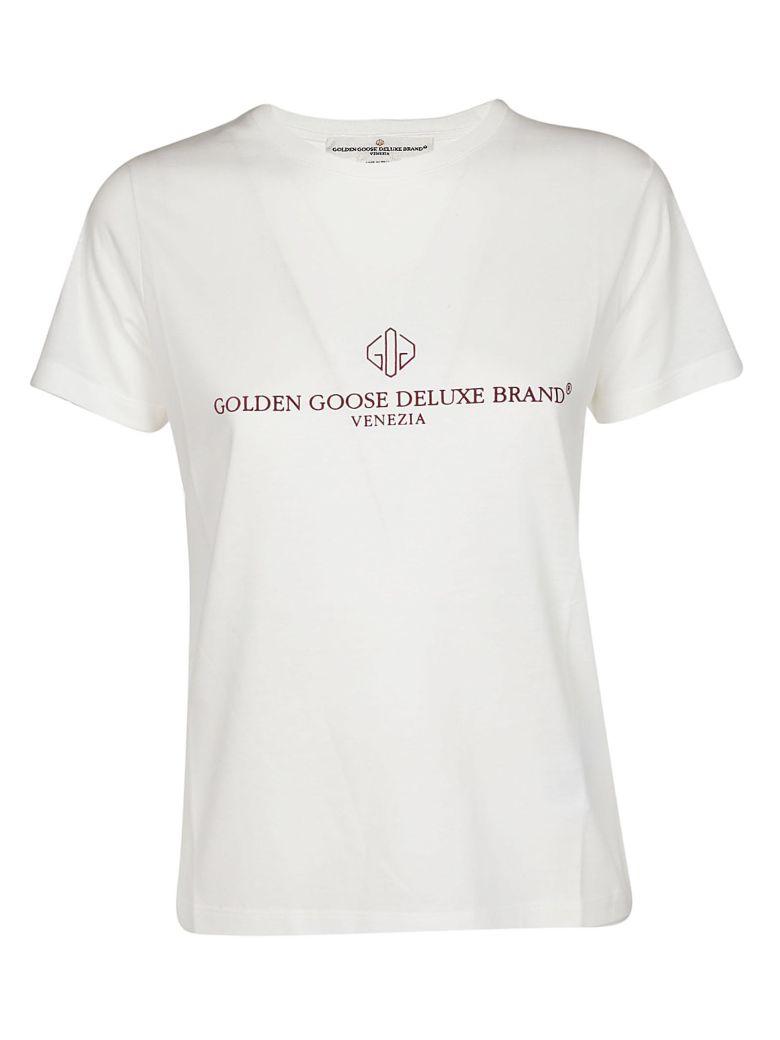 Golden Goose Logo Printed T-shirt - White