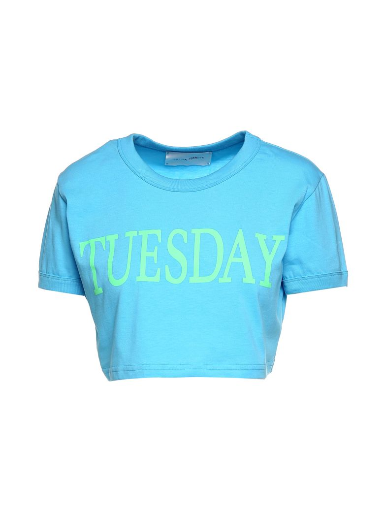 TUESDAY COTTON-JERSEY CROPPED T-SHIRT