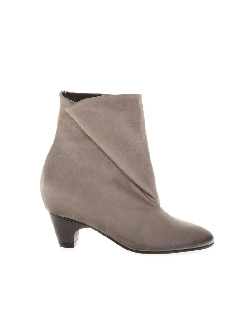 TAUPE FOLDED LEATHER BOOTS