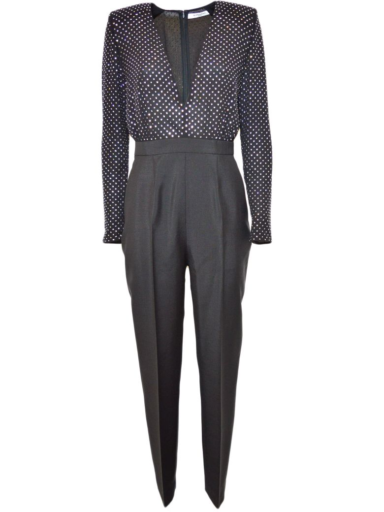 POLKA-DOT TAILORED JUMPSUIT