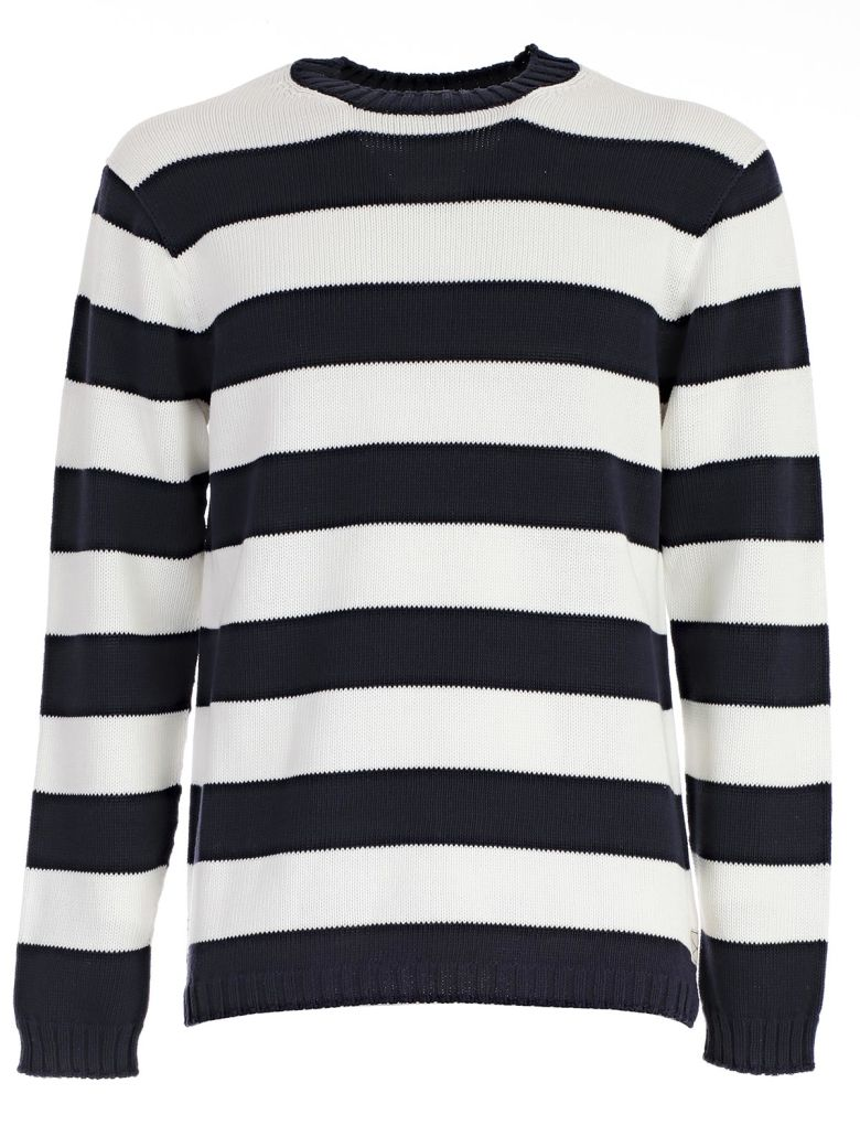 JUNYA WATANABE Comme Des Garçons Striped Fitted Sweater, Navy White