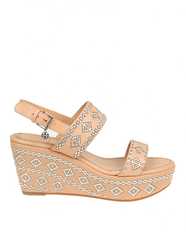 Buy Cheap Many Kinds Of Tory Burch Blake Ankle-strap Wedge Sandal Sandal In Leather Prices Cheap Online Cheap The Cheapest Find Great Cheap Price nX8vI8rGt