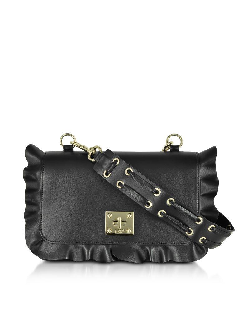 Rock Ruffles Shoulder Bag, Black