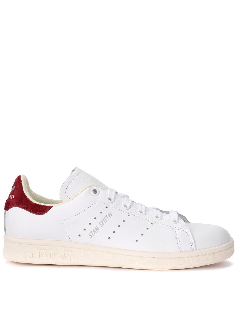 STAN SMITH WHITE AND RED LEATHER SNEAKER