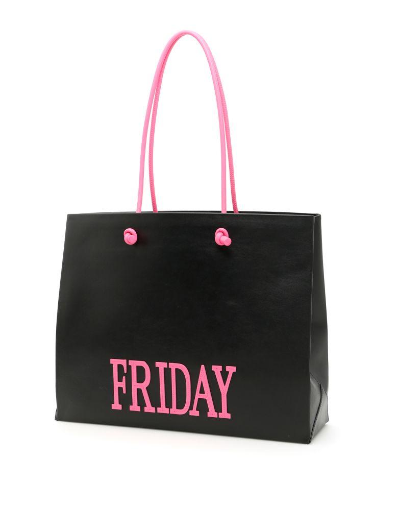 Rainbow Week Fluo Shopping Bag in Black