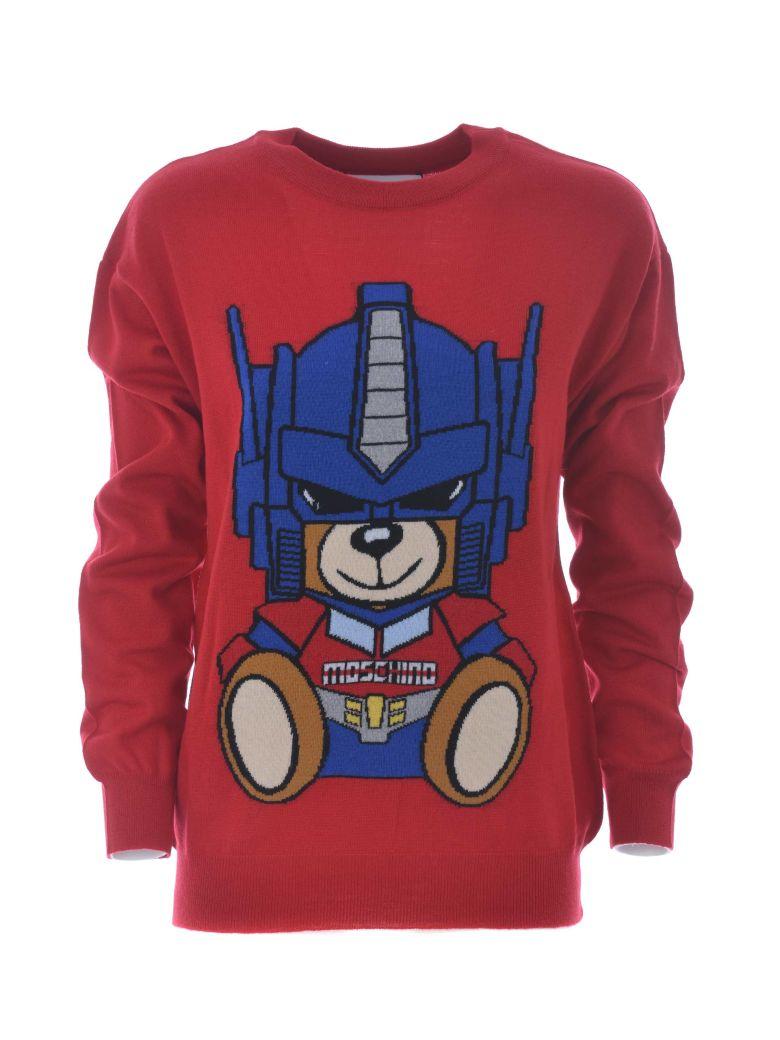 Transformer Bear Jumper in Rosso