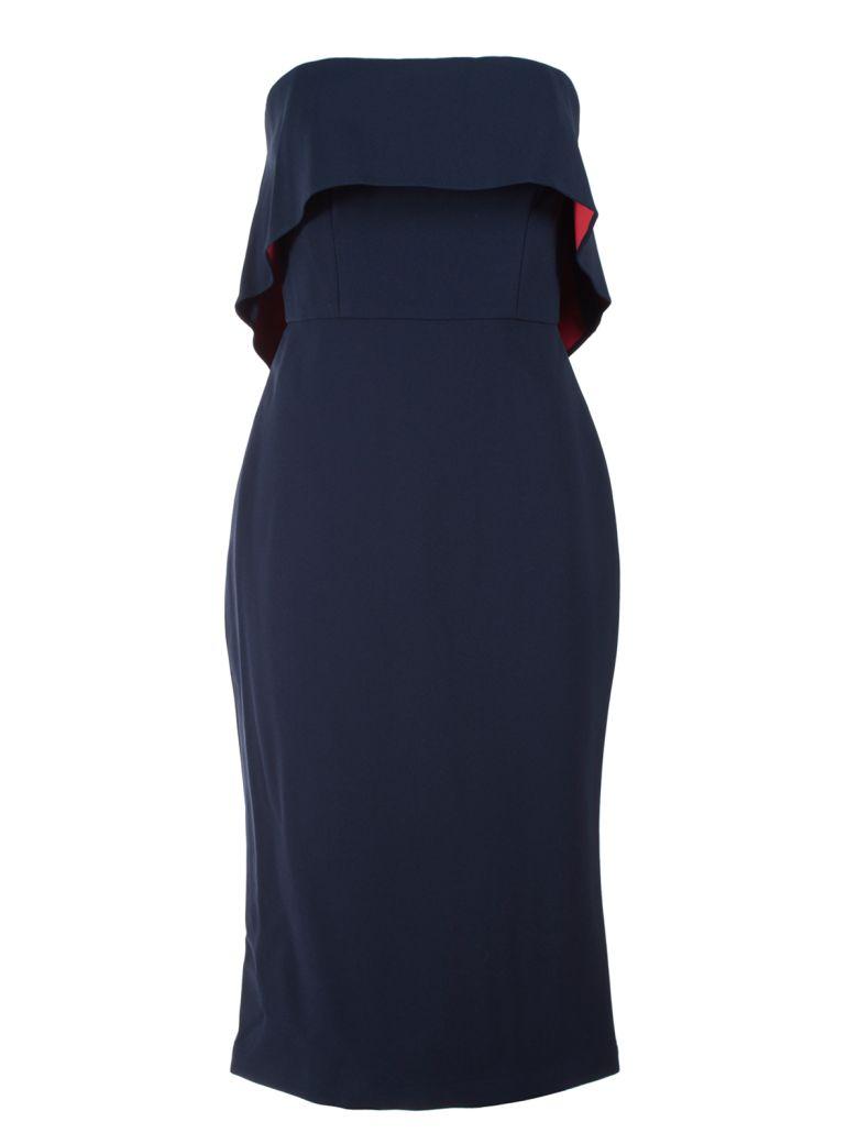 BCBG MAX AZRIA MONTANA CREPE STRAPLESS DRESS