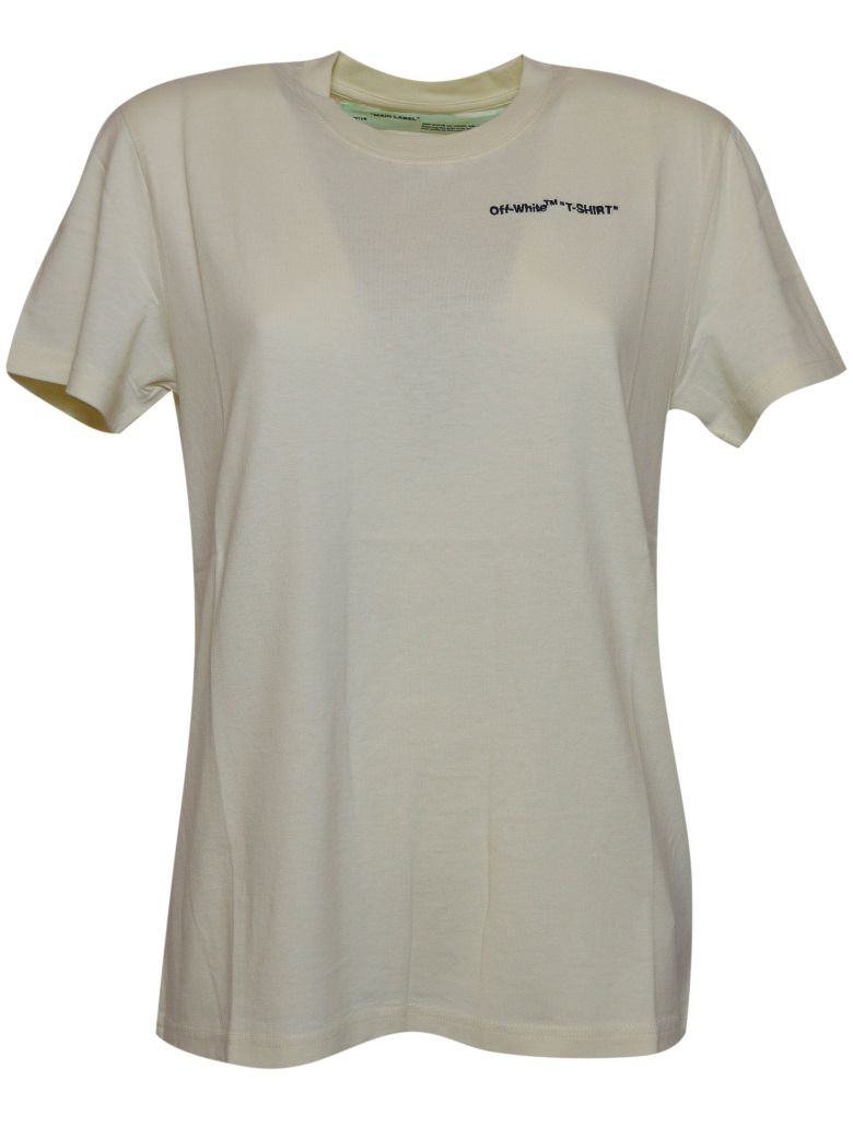 OFF-WHITE EMBROIDERED LOGO T-SHIRT