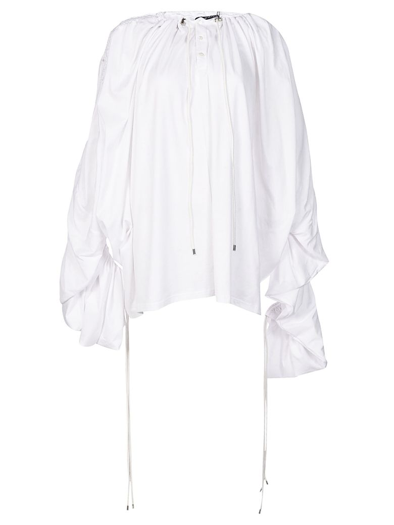 Y-PROJECT DRAWSTRING DRAPED TOP