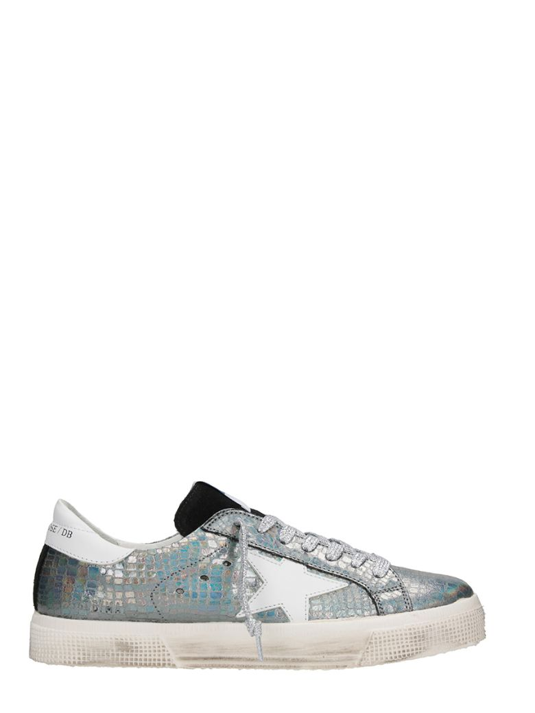 MAY METALLIC LEATHER SNEAKERS