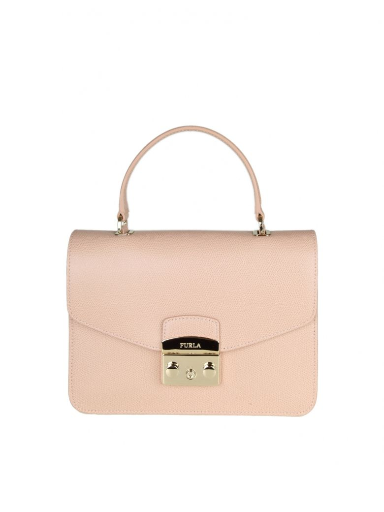 METROPOLIS S HAND BAG IN PINK COLORED LEATHER