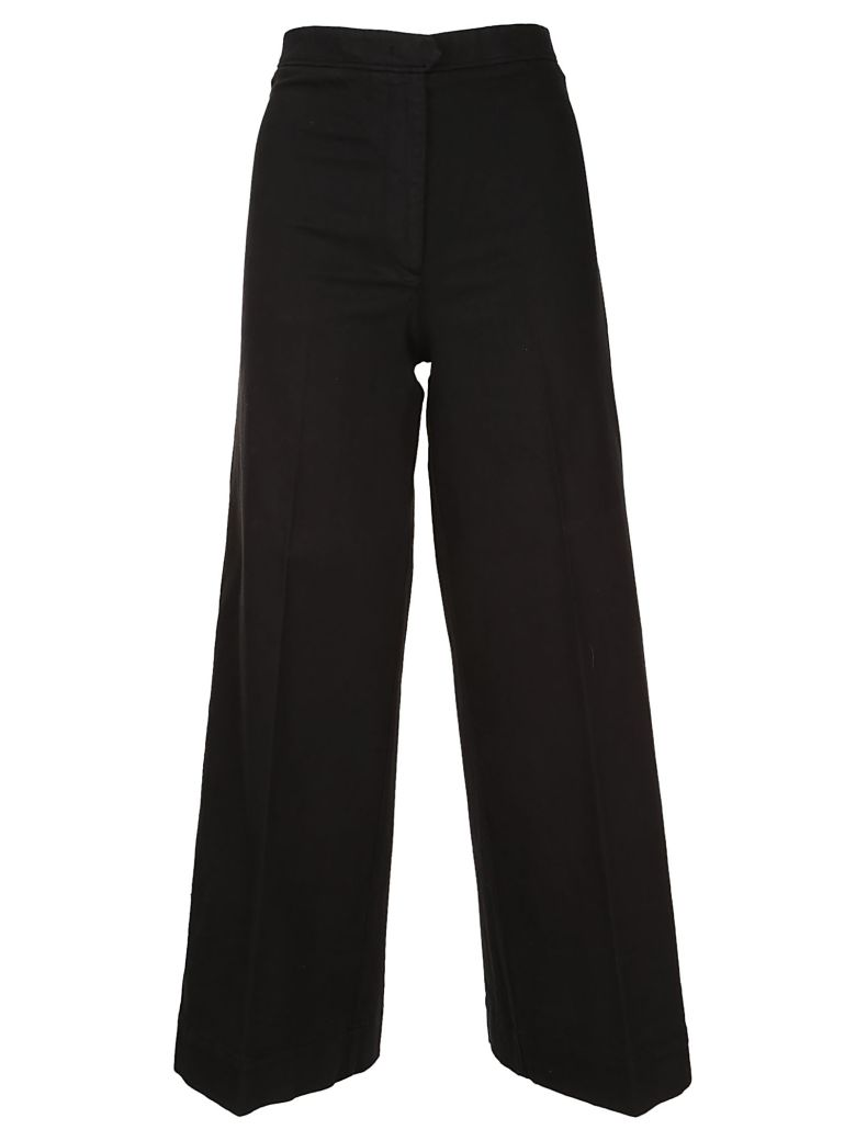 QL2 Quelledue Wide Leg Trousers in Black