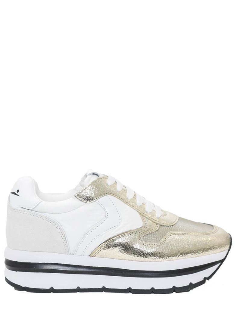 - LEATHER AND FABRIC SNEAKERS MAY