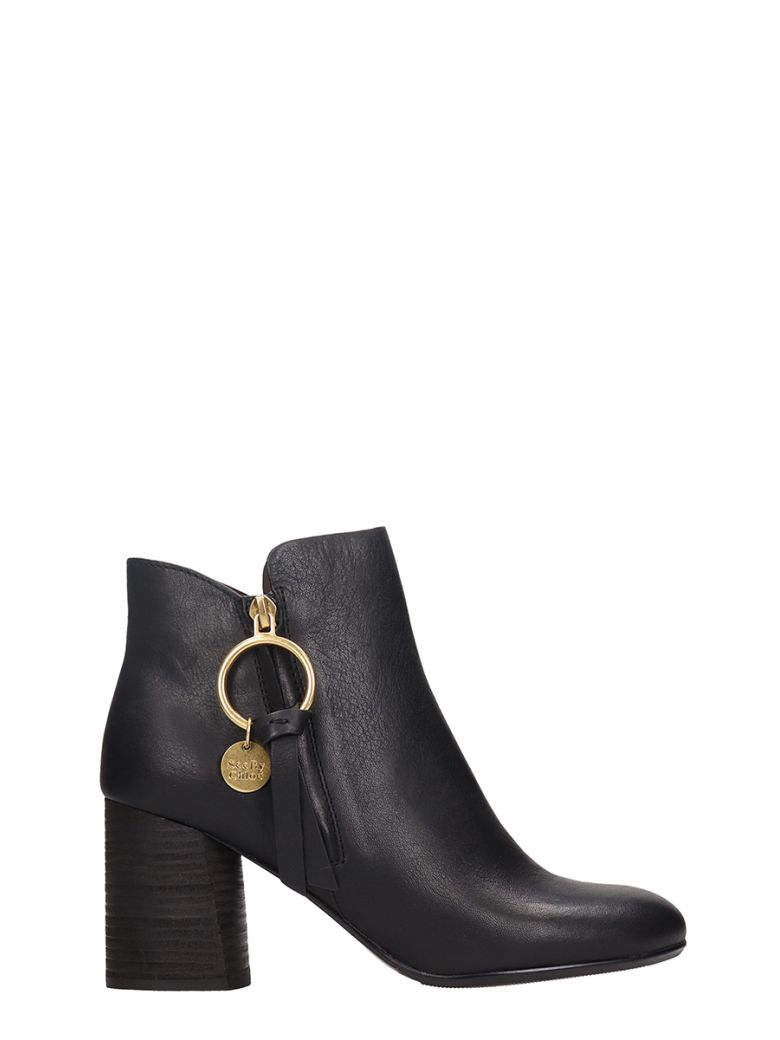 LOUISE BLACK ANKLE BOOTS